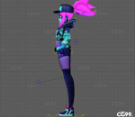 Akali full rigged with texture 英雄联盟 Kda 阿卡丽