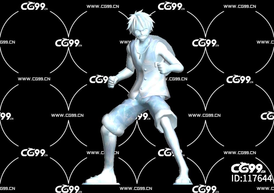 二次元 动漫 游戏模型 海贼王 路飞冰雕