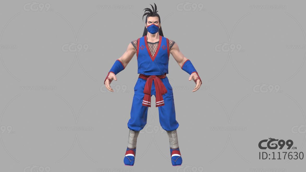 游戏影视 3d模型 人物 角色 拳皇 如月影二