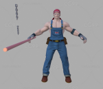 拳皇 3D模型 CG次时代 人物 克拉克