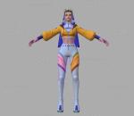 拳皇 3D模型 CG次时代 人物 街头少女 神乐千鹤