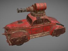 次时代PBR 载具 车辆 废土风改装战车 装甲车