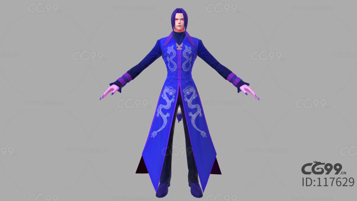 游戏影视 3d模型 人物 角色 拳皇 堕龙