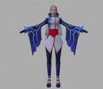 拳皇 3D模型 CG次时代 人物 朋克 神乐千鹤