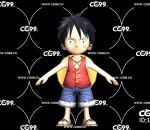 二次元 动漫 游戏模型 海贼王 Q版路飞