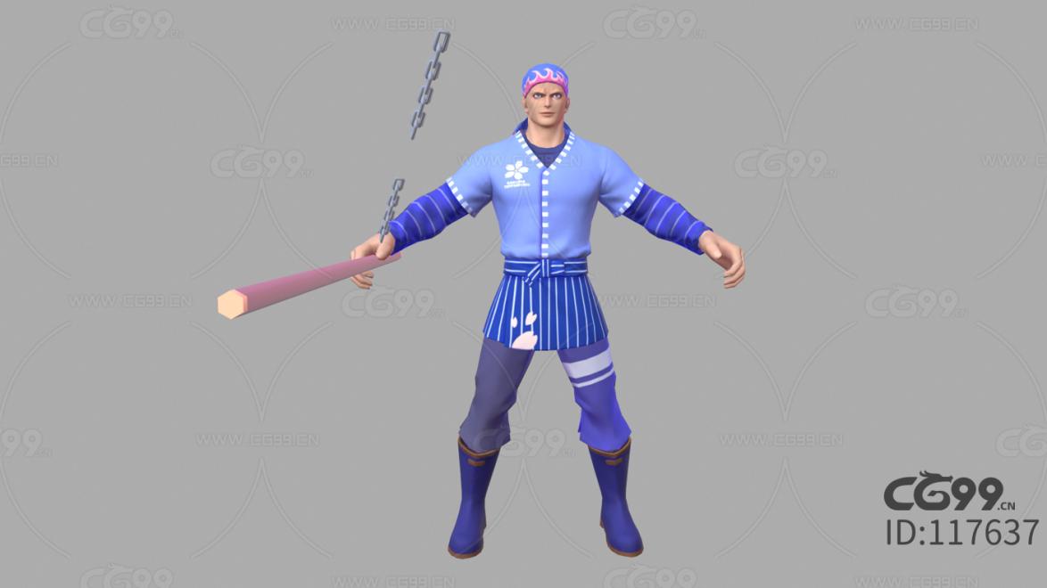 游戏影视 3d模型 人物 角色 拳皇 厨师 比利