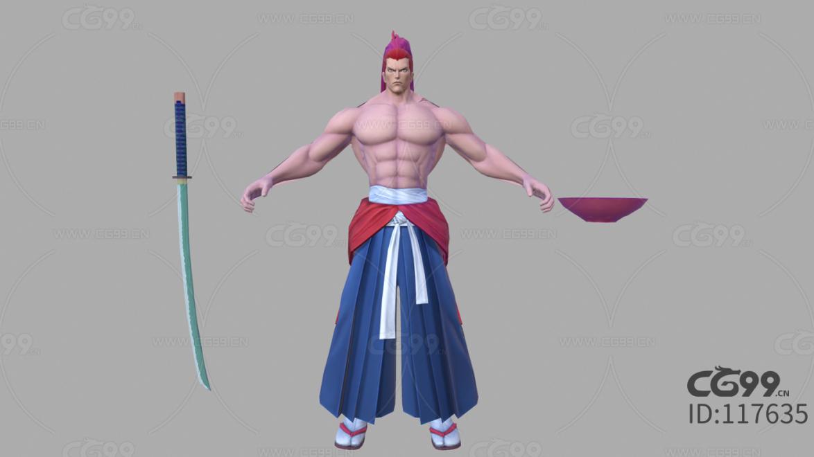 游戏影视 3d模型 人物 角色 拳皇 牙神幻十郎