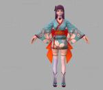 拳皇 3D模型 CG次时代人物 和服 雅典娜