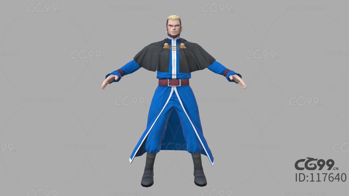 游戏影视 3d模型 人物 角色 拳皇 高尼茨