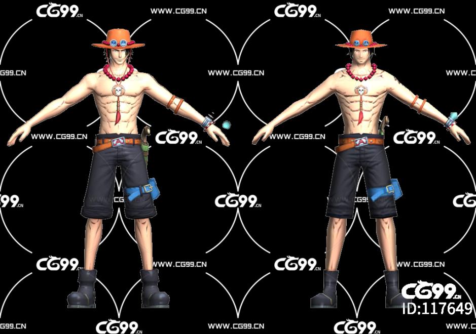 二次元 动漫 游戏模型 海贼王 艾斯