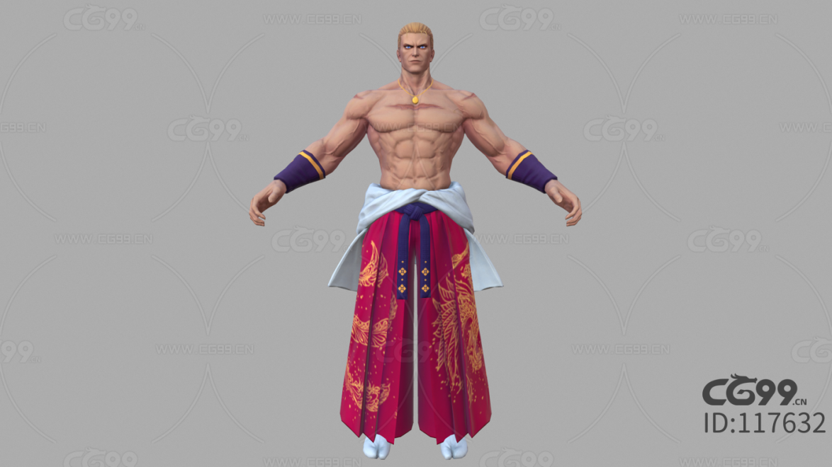 游戏影视 3d模型 人物 角色 拳皇 吉斯