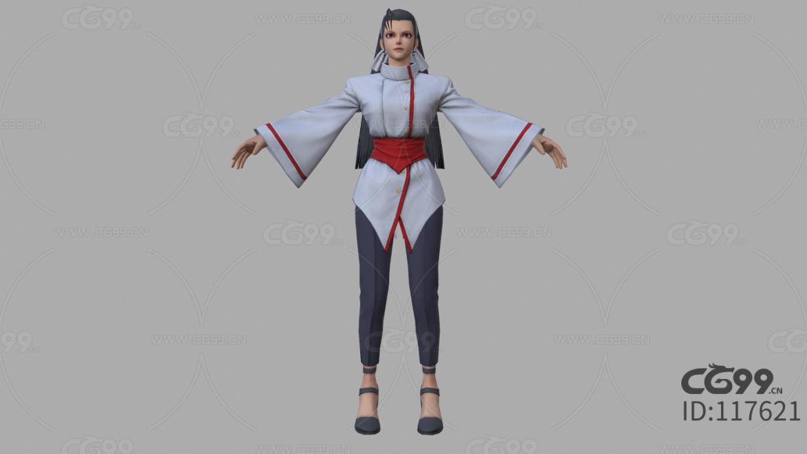 拳皇 3D模型 CG次时代 人物 神乐千鹤
