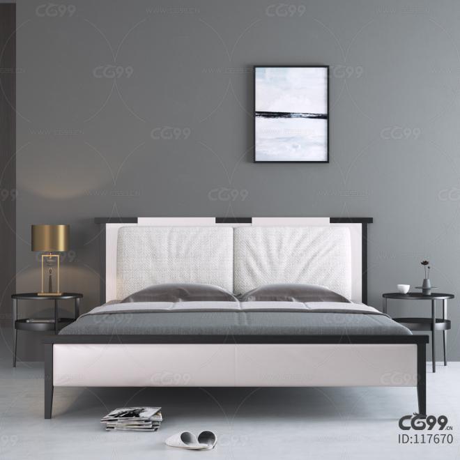 简约中式床
