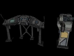 场景部件3d模型
