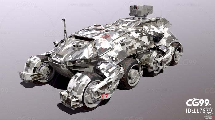 科幻军事装甲车