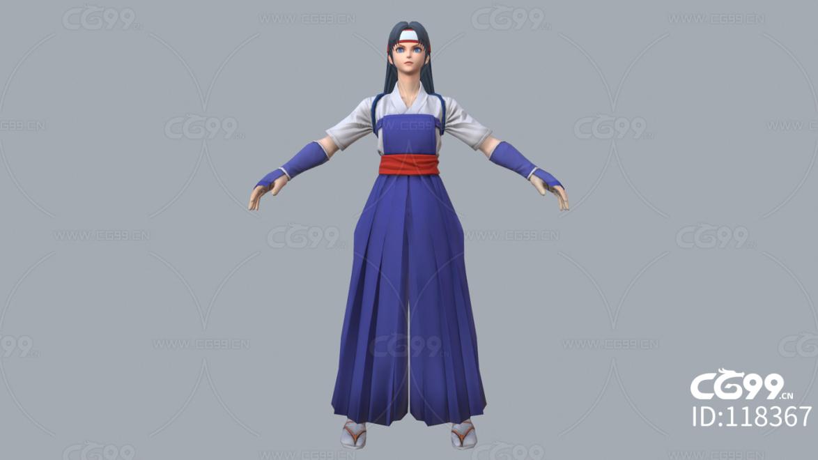 拳皇 3D模型 CG次时代 人物 藤堂香澄