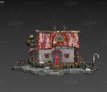 卡通房子  卡通小屋  圣诞小屋