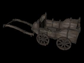 马车3d模型