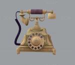 欧式古董 旧物 影视级 老式家具模型 拨号电话