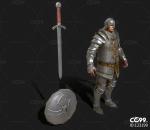 欧洲中世纪 皇家卫兵 铠甲战士 十字军 骑士 守卫 守护者