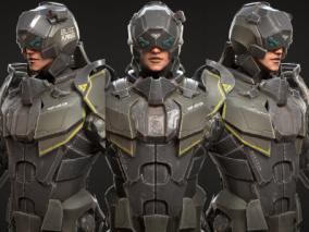 次时代PBR 写实 未来科幻 机甲 战士  赛博朋克