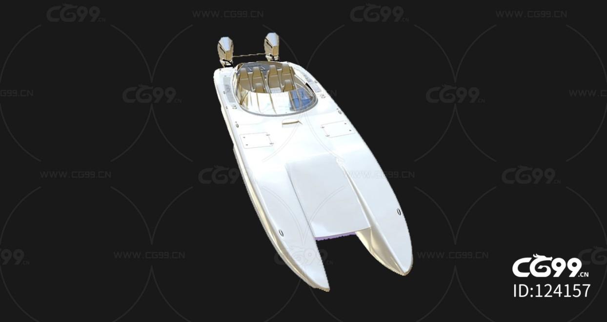 次时代PBR 写实 海上交通工具 载具 游艇 快艇