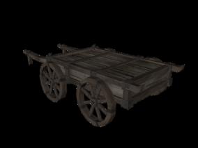 手推车3d模型