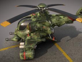 次时代PBR 写实 战争 装甲 军事直升飞机