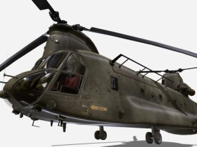 次时代PBR 写实 战争 载具 直升飞机