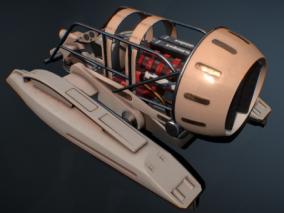 次时代PBR 未来 科幻 军事载具 汽船飞艇