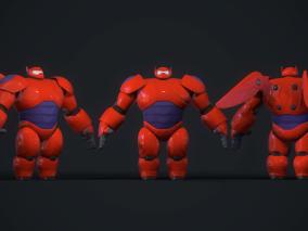 次时代PBR 迪士尼 王国之心3 游戏角色 大白机器人