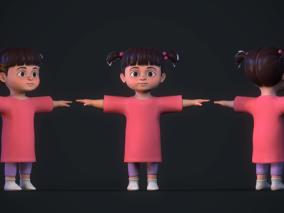 次时代PBR 迪士尼 王国之心3 游戏角色 可爱小妹妹