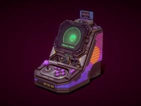 次时代PBR 高清 写实 科幻游戏机 街机