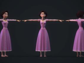 次时代PBR 王者之心3 迪士尼 美女角色 乐佩公主(短发)