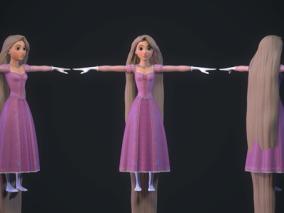 次时代PBR 王者之心3 迪士尼 美女角色 乐佩公主(长发)