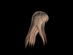 头发cg模型