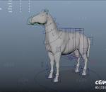 写实绑定好的马