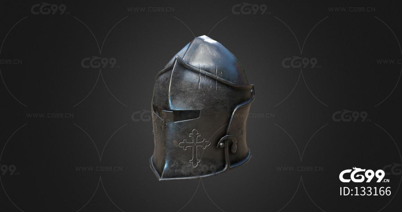 复古中世纪头盔 防具 场景道具模型合集