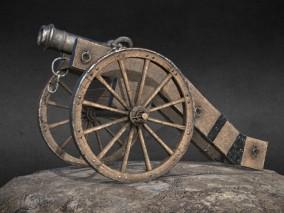18世纪老式加农炮 火炮 武器 场景道具合集