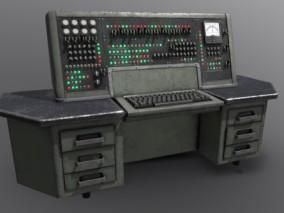 企业大型电脑设备 中央控制器 场景道具模型合集