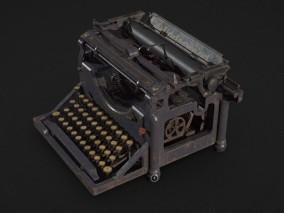 安德伍牌老式打字机 家用设备 场景道具模型合集