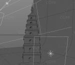 国风回潮大雁塔海报模型(OC渲染器)