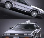 回到未来   穿越汽车  赛博朋克汽车  未来汽车