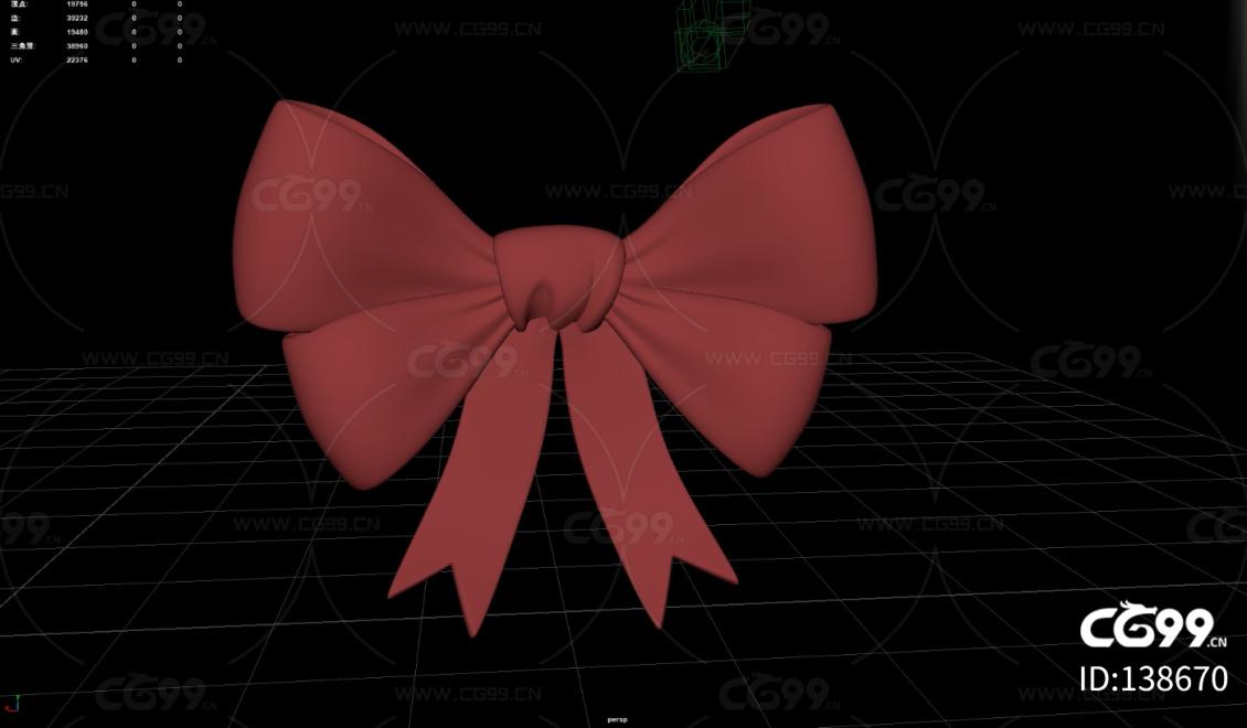 红色蝴蝶结 装饰 大蝴蝶结