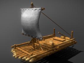木筏  竹筏   船