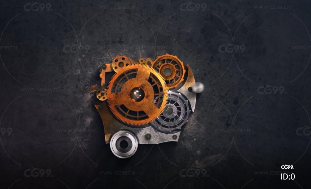 机械迷城 末日科技 机械齿轮 logo标志 视频模板AE