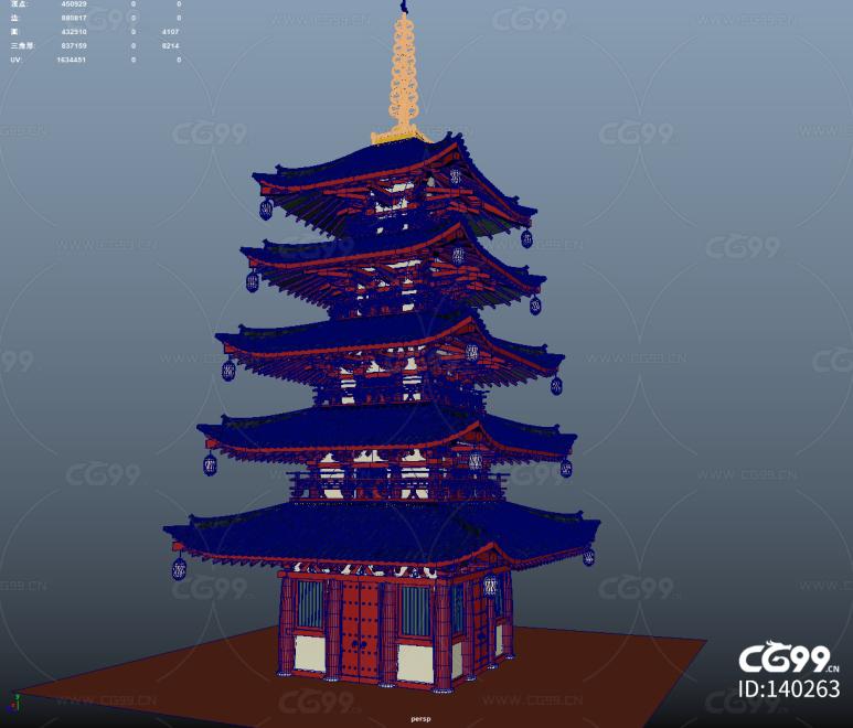 塔  木塔  日本神庙