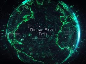 数字地球标题展示视频模板