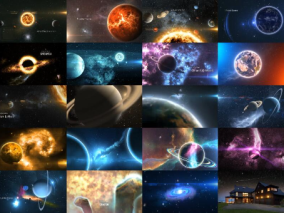 太阳系星空片头视频模板