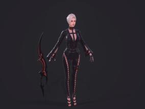 美女刺客,剑士,黑暗复仇者3